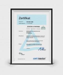 Steffen Rechtsanwälte Bocholt - Zertifikat