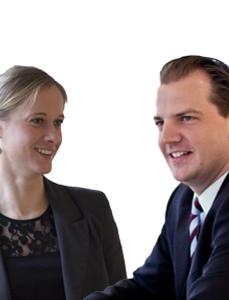 Portrait von Kerstin Steffen und Johannes Rudolph, Rechtsanwälte und Geschäftsführer der Steffen Rechtsanwaltsgesellschaft